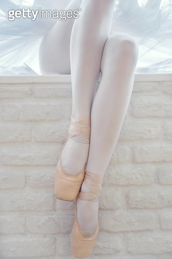 Ballerina legs in ballet shoes - gettyimageskorea