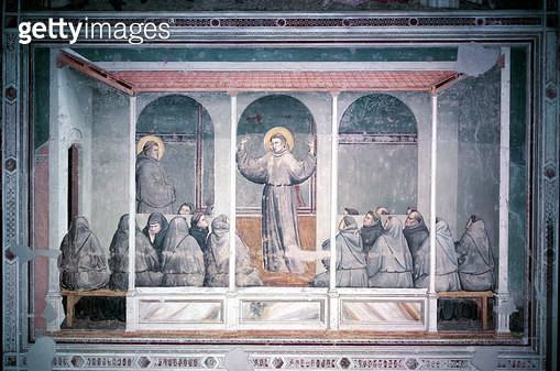 <b>Title</b> : St. Francis Appears to St. Anthony in Arles, from the Bardi Chapel, c.1320 (fresco)<br><b>Medium</b> : <br><b>Location</b> : Santa Croce, Florence, Italy<br> - gettyimageskorea