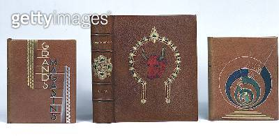 Collection of Art Nouveau Book Bindings/ includes Grands Magasins and Kim by Kipling - gettyimageskorea