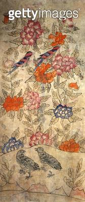 <b>Title</b> : A panel from an eight fold screen (natural pigments on paper)<br><b>Medium</b> : natural pigments on paper<br><b>Location</b> : Gahoe Museum, Jongno-gu, South Korea<br> - gettyimageskorea