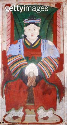 <b>Title</b> : The goddess Dodangsin (natural pigment on paper)<br><b>Medium</b> : natural pigment on paper<br><b>Location</b> : Gahoe Museum, Jongno-gu, South Korea<br> - gettyimageskorea