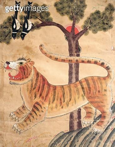 <b>Title</b> : Seonangsin (natural pigment on paper)<br><b>Medium</b> : natural pigment on paper<br><b>Location</b> : Gahoe Museum, Jongno-gu, South Korea<br> - gettyimageskorea