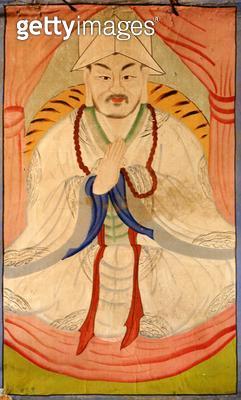 <b>Title</b> : Janggun (natural pigment on silk)<br><b>Medium</b> : natural pigment on silk<br><b>Location</b> : Gahoe Museum, Jongno-gu, South Korea<br> - gettyimageskorea