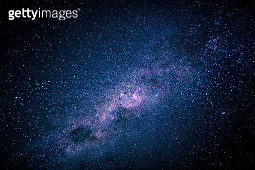 Milky way galaxy and stars shining bright, Namibia, Africa - gettyimageskorea