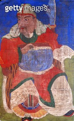 <b>Title</b> : Gwanwoojanggun (natural pigment on silk)Additional Infoprotector of humans and shamen;<br><b>Medium</b> : natural pigment on silk<br><b>Location</b> : Gahoe Museum, Jongno-gu, South Korea<br> - gettyimageskorea