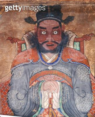 <b>Title</b> : Jangbijanggun (natural pigments on paper) (detail of 238559)<br><b>Medium</b> : natural pigments on paper<br><b>Location</b> : Gahoe Museum, Jongno-gu, South Korea<br> - gettyimageskorea