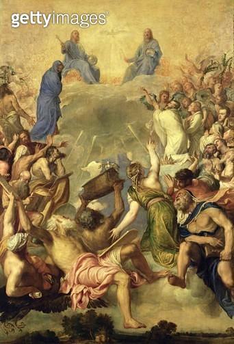 <b>Title</b> : The Holy Trinity, 1553/54 (oil on canvas)Additional InfoLa Gloria;<br><b>Medium</b> : oil on canvas<br><b>Location</b> : Prado, Madrid, Spain<br> - gettyimageskorea