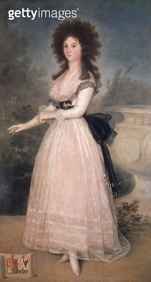 <b>Title</b> : Dona Tadea Arias de Enriquez, 1793-94 (oil on canvas)<br><b>Medium</b> : oil on canvas<br><b>Location</b> : Prado, Madrid, Spain<br> - gettyimageskorea