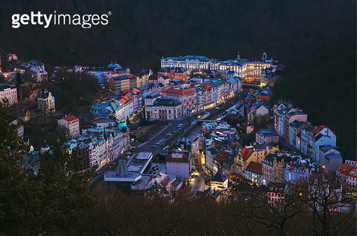 Karlovy Vary downtown from above - gettyimageskorea