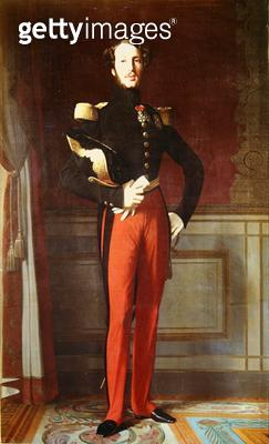 <b>Title</b> : Ferdinand-Philippe (1810-42) Duke of Orleans at the Palais des Tuileries, 1844 (oil on canvas)<br><b>Medium</b> : oil on canvas<br><b>Location</b> : Chateau de Versailles, France<br> - gettyimageskorea