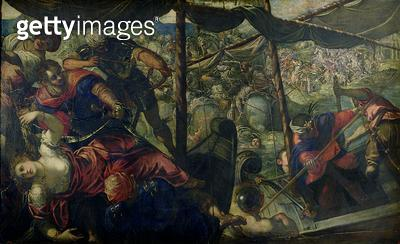Battle between Turks and Christians/ c.1588/89 (oil on canvas) - gettyimageskorea