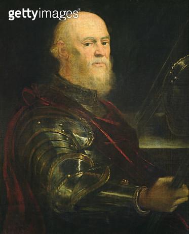 <b>Title</b> : Venetian General, 1570-75 (oil on canvas)<br><b>Medium</b> : oil on canvas<br><b>Location</b> : Prado, Madrid, Spain<br> - gettyimageskorea