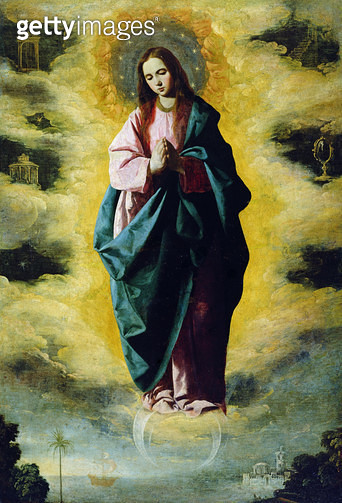 <b>Title</b> : The Immaculate Conception, c.1630-35 (oil on canvas)<br><b>Medium</b> : oil on canvas<br><b>Location</b> : Prado, Madrid, Spain<br> - gettyimageskorea
