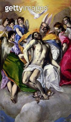 <b>Title</b> : The Trinity, 1577-79 (oil on canvas)<br><b>Medium</b> : oil on canvas<br><b>Location</b> : Prado, Madrid, Spain<br> - gettyimageskorea