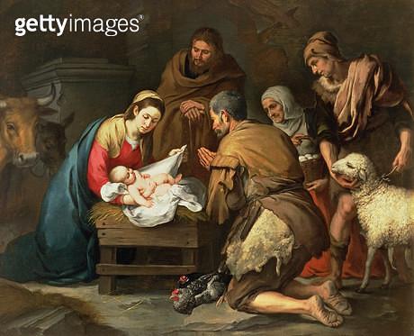 <b>Title</b> : The Adoration of the Shepherds, c.1650 (oil on canvas)<br><b>Medium</b> : oil on canvas<br><b>Location</b> : Prado, Madrid, Spain<br> - gettyimageskorea
