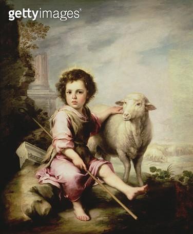 <b>Title</b> : The Good Shepherd, c.1650 (oil on canvas)<br><b>Medium</b> : oil on canvas<br><b>Location</b> : Prado, Madrid, Spain<br> - gettyimageskorea