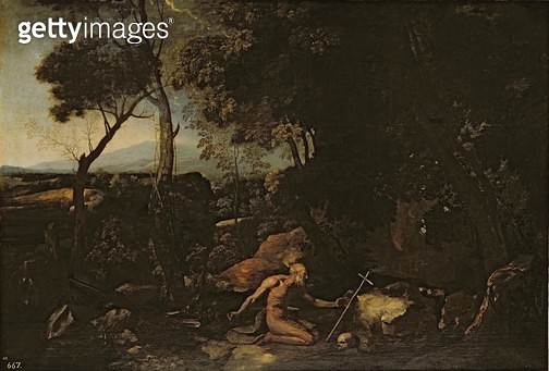 Landscape with St. Jerome - gettyimageskorea