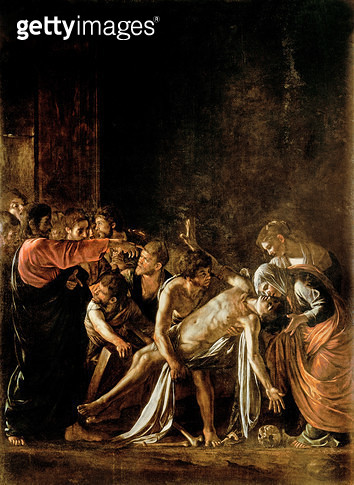 <b>Title</b> : Resurrection of Lazarus (oil on canvas) (also see 232098,94,95)<br><b>Medium</b> : oil on canvas<br><b>Location</b> : Museo Regionale, Messina, Sicily, Italy<br> - gettyimageskorea