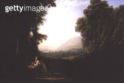 Landscape with the Repentant Magdalene - gettyimageskorea