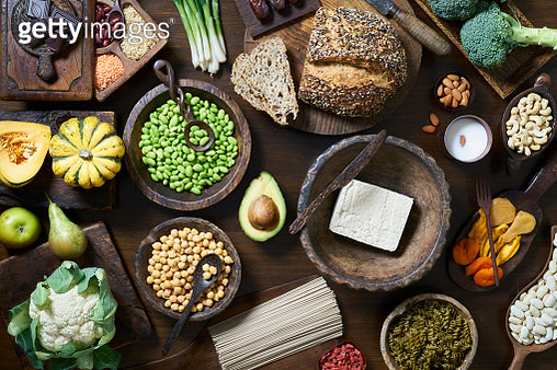 Vegan Food Selection - gettyimageskorea