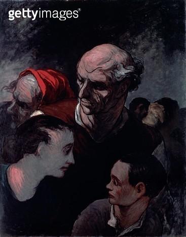 <b>Title</b> : Family in a Barricade during the Paris Commune of 1870 (oil on canvas)<br><b>Medium</b> : <br><b>Location</b> : Narodni Galerie, Prague, Czech Republic<br> - gettyimageskorea