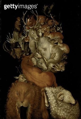 <b>Title</b> : Earth, c.1570 (oil on panel)<br><b>Medium</b> : oil on panel<br><b>Location</b> : Private Collection, Vienna, Austria<br> - gettyimageskorea