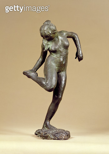 <b>Title</b> : Dancer Looking at the Sole of her Right Foot (bronze)<br><b>Medium</b> : bronze<br><b>Location</b> : National Museum and Gallery of Wales, Cardiff<br> - gettyimageskorea
