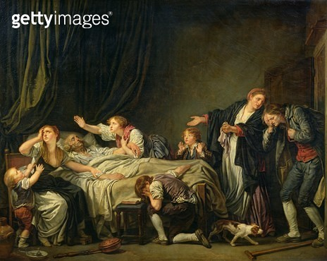 <b>Title</b> : The Punished Son, 1778 (oil on canvas)<br><b>Medium</b> : oil on canvas<br><b>Location</b> : Louvre, Paris, France<br> - gettyimageskorea