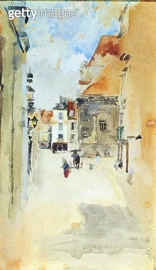 Street Scene/ c.1888 (w/c on paper) - gettyimageskorea