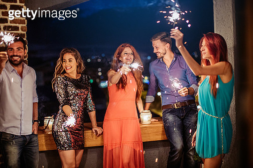 Light sparklers and dance - gettyimageskorea