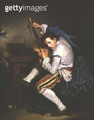<b>Title</b> : The Guitarist (oil on canvas)<br><b>Medium</b> : oil on canvas<br><b>Location</b> : Musee des Beaux-Arts, Nantes, France<br> - gettyimageskorea