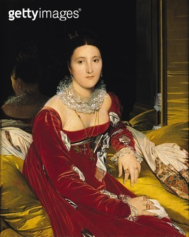<b>Title</b> : Madame de Senonnes, 1814-16 (oil on canvas)<br><b>Medium</b> : oil on canvas<br><b>Location</b> : Musee des Beaux-Arts, Nantes, France<br> - gettyimageskorea