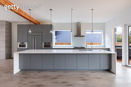 view of an open kitchen - gettyimageskorea