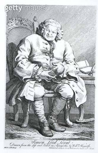 <b>Title</b> : Portrait of Simon Fraser, Lord Lovat (c.1667-1747) 25 August 1746 (engraving) (b/w photo)<br><b>Medium</b> : engraving<br><b>Location</b> : Private Collection<br> - gettyimageskorea
