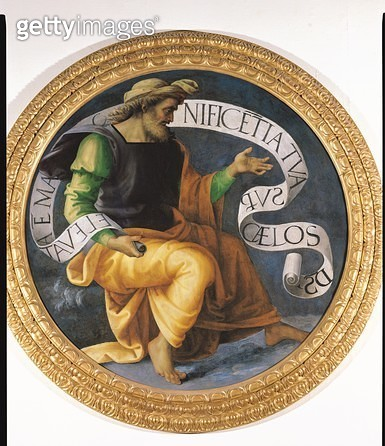 <b>Title</b> : The Prophet Isaiah, c.1512-17 (oil on panel)<br><b>Medium</b> : oil on panel<br><b>Location</b> : Musee des Beaux-Arts, Nantes, France<br> - gettyimageskorea