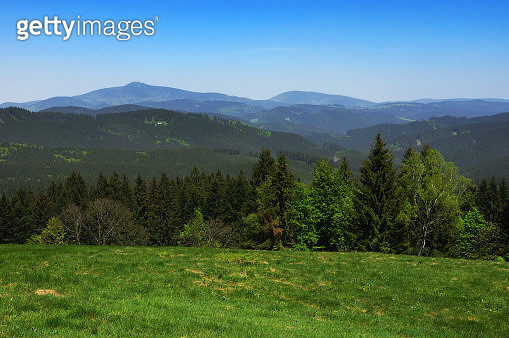 Typical mountainous landscape at Smutníky during spring sunny morning - gettyimageskorea