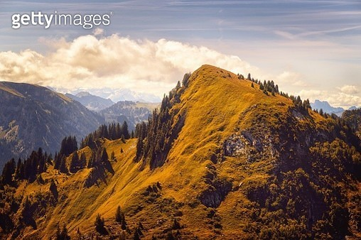 Autumnal Mood At Simmental - gettyimageskorea