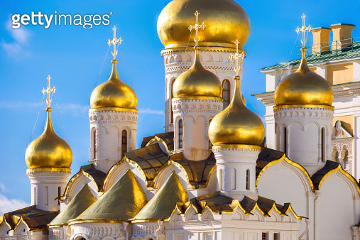 Golden domes of the Russian Church - gettyimageskorea