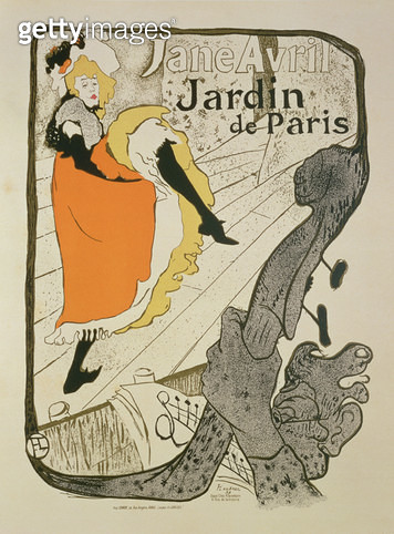 <b>Title</b> : Reproduction of a poster advertising 'Jane Avril' at the Jardin de Paris, 1893 (colour litho) (see 34625)Additional Inforeproduc<br><b>Medium</b> : colour lithograph<br><b>Location</b> : Private Collection<br> - gettyimageskorea