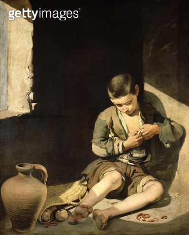 <b>Title</b> : The Young Beggar, c.1650 (oil on canvas)<br><b>Medium</b> : oil on canvas<br><b>Location</b> : Louvre, Paris, France<br> - gettyimageskorea
