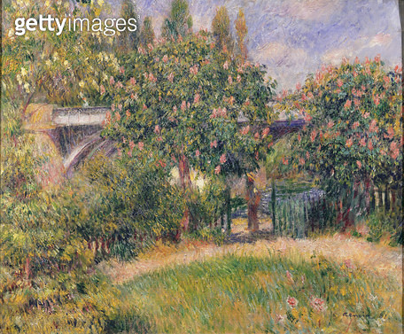 <b>Title</b> : Railway Bridge at Chatou, 1881 (oil on canvas)<br><b>Medium</b> : oil on canvas<br><b>Location</b> : Musee d'Orsay, Paris, France<br> - gettyimageskorea
