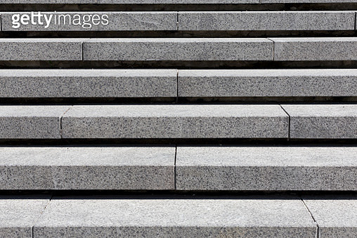 detail of gray stone granite stairs, horizontal - gettyimageskorea