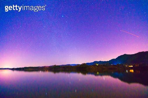 Nian Lake night of Huize County,Yunnan Province,China - gettyimageskorea