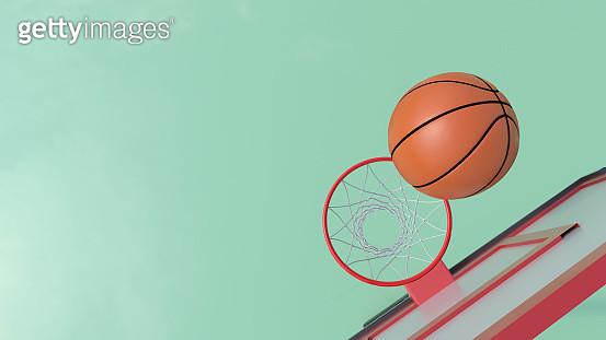 Basketball ball hoop - gettyimageskorea