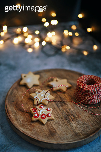 Delicious Christmas Cookies for Hanging on Christmas Tree - gettyimageskorea