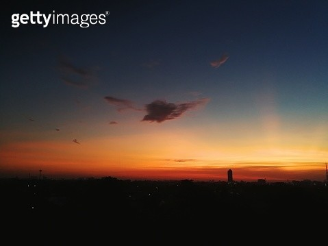 Scenic View Of Silhouette Landscape Against Sky During Sunset - gettyimageskorea