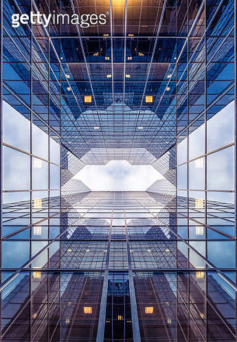 modern glass building, abstract architecture - gettyimageskorea