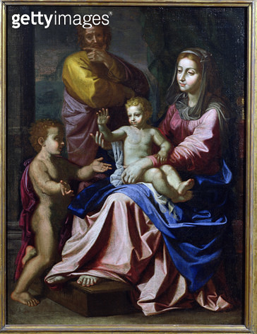 The Holy Family with the Infant St. John/ 1660 (oil on canvas) - gettyimageskorea