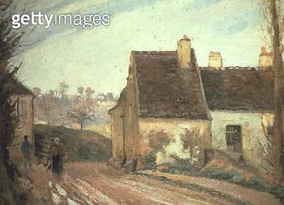 <b>Title</b> : The Tumbledown Cottage near Osny, 1872<br><b>Medium</b> : oil on canvas<br><b>Location</b> : Musee d'Orsay, Paris, France<br> - gettyimageskorea