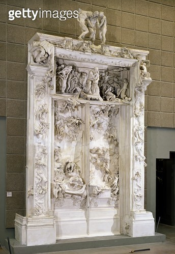 <b>Title</b> : The Gates of Hell (plaster)<br><b>Medium</b> : plaster<br><b>Location</b> : Musee d'Orsay, Paris, France<br> - gettyimageskorea